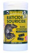 RATICIDE SOURICIDE BAYER-CAUSSADE-LUCIFER. Appat poison sur Mais Concassé pour RAT-SOURIS -140g- Matière active : Brodifacoum
