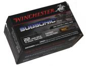 Balles 22lr subsoniques Winchester boite de 50 cartouches