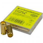 Cartouche gaz cs lacrymogène, munitions pour pistolet à blanc d'autodéfense Cal 9mm, autres balles : cartouche à blanc ou gaz poivre
