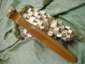 Etui cuir pour dague - réalisé sur mesure