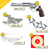 Promo Pack Plinking - Airsoft Ruger Super Co2 Billes Lunettes pas cher