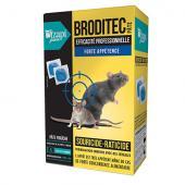 RATICIDE en pate fraiche, sans odeur, qui désseche les cadavres de rongeurs, rats et souris 150 gr Broditec sachet bleu au Brodifacoum