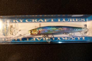 Staysee 120 sp-leurre mer bar lucky craftpeche mer MS metallic sardine
