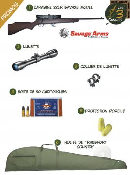 Pack promo achat carabine 22lr savage 300 stevens-calibre 22 long rifle