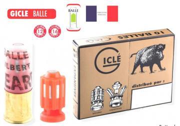 BALLE GICLE CAL 12  Munitions balles fusil lisse calibre 12, Balles Giclé expansives, Chasse au gros gibier