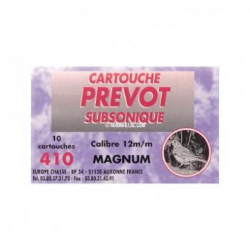 410-Cartouche CAL 410 PREVOT silence subsonique calibre magnum 12mm/410