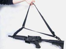 Sangle Swiss Arm 900D Noire adaptable pour Airsoft et Paintball