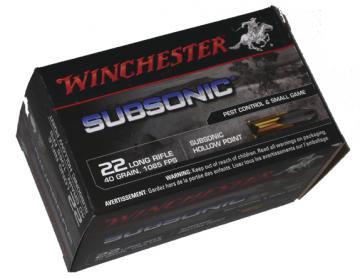 Balles 22lr subsoniques Winchesterboite de 50 cartouches