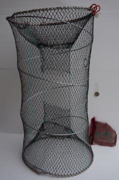 Nasse ecrevisse fabrication pas cher pliante américaine, piege à ecrevisses, balance, filets, casiers et tonneaux de peche