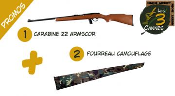 promo carabine 22lr armscor M1400 +fourreau camouflé