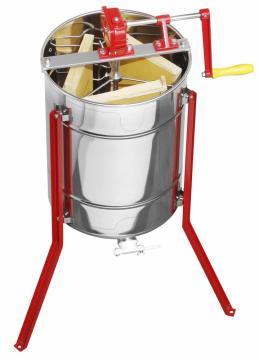 EXTRACTEUR à miel LEGA manuel Dadant Micro, 3 cadres, tangentiel dandat ou langstroth, trasmission métallique ref ss308ce