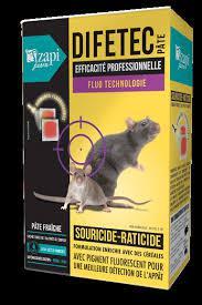 RATICIDE en pate fraiche, sans odeur, qui désseche les cadavres de rongeurs, rats et souris 150 gr DIFETEC au Difenacoum