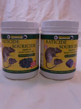 Pack ANTI-RONGEURS contenant 2 raticides-souricides, 4 pièges, et 1 boite d'appâtage sécurisée