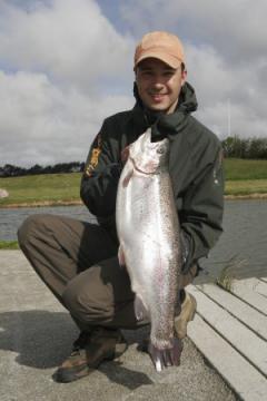 triute de 5.3 kg prise au twisting tail au danemark