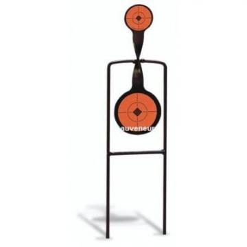 cible de tir pivotante à 2 portants du 22lr au gros calibre