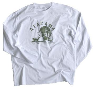 Tee shirt Atacama -  NATIONAL RESERVE 100% coton Blanc manches longues