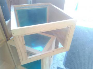 RUCHE Vitrée Dadant d'Observation 10 cadres-Corps de ruche Dadant 2 faces vitrées transparente avec panneau d'occultation