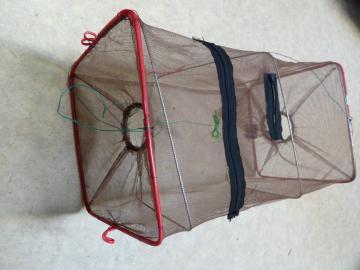 Nasse à ecrevisse pliante rectangulaire 48cm-fabrication pas cher américaine, piege à ecrevisses, balance, filets, casiers et tonneaux de peche