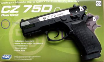 Airsoft 1 joules co2 pistolet a bille replique bb CZ 75D DUAL TONE ... 115a33f0eb0