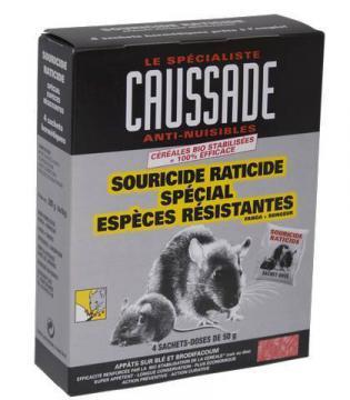 RATICIDE SOURICIDE Spéciales Espèces Résistantes-Appat Blé/Brodifacum