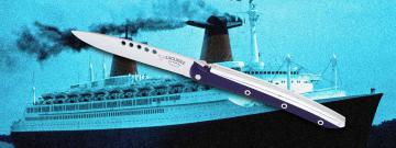 Couteau LAGUIOLE en AUBRAC- PAQUEBOT FRANCe ressort forgé