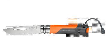 COUTEAU OPINEL OUTDOOR N°8 Orange - le couteau opinel pour la Nature, la Randonnée, la Survie ...