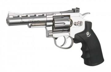 Dan Wesson revolver chrome 4""