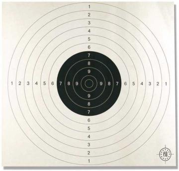 Cible de Tir carton-Armes-carabine,pistolet,revolver-la cible carton