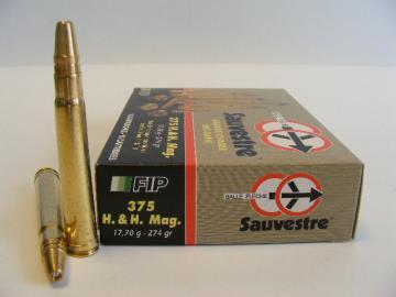 375 HH Magnum-Munition Chasse Battue, Cartouches Balles carabine-