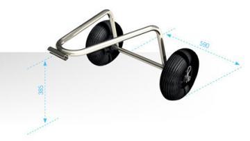 Mini Chariot de Plage pour bateau pneumatique-chariot de nez