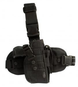 Holster de cuisse noir droitier-pistolet revolver airsoft bb