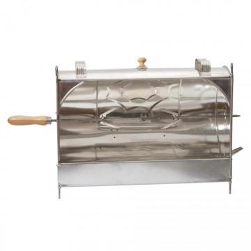ROTISSOIRE de Cheminée manuelle en fer blanc 55 cm - Tournebroche rôtissoire ancienne devant cheminée