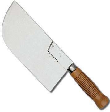 feuille de boucher, fendoir de cuisine, achat d'ustensiles de cuisine, feuille manche bois 26 cm